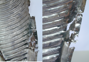 7 silbermantel vor der restaurierung